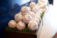 Jacob's Dodger themed Bar Mitzvah @Busby's East in Los Angeles - we created a logo using the Dodgers font, using his name.  This was great to use in decor, and on his give-away custom-printed baseballs!