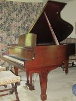 Lester Grand Piano. Mahogany. Circa 1950. The from the era of attention to detail and soul.