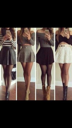 Image via We Heart It https://weheartit.com/entry/165530025 #belts #black #boots #cute #fashion #gold #gray #grey #heels #lace #leather #metal #outfits #party #skirts #striped #stripes #white