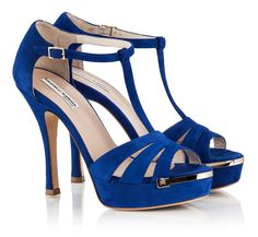48dc3e1b37f1 Fratelli Karida Blue Suede Sandals