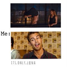 Haha yupp theo james is perfection Divergent Memes, Divergent Hunger Games, Divergent Fandom, Divergent Trilogy, Divergent Insurgent Allegiant, Fantasy Magic, Theo James, Theodore James, Veronica Roth