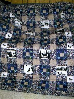 Ice Fishing - by quiltersclubofamerica  Wish I could find this fabric! I LOVE this quilt!