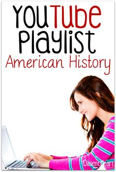 Studying American History in your Homeschool? Do you love using digital resources for your homeschool (or want to?). As we\'ve worked through All American Histroy I\'m compiling videos to help supplement our studies. Come on over and check them out! YouTube Playlist I American History I adiligentheart.com