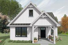 Guest House Plans, Cottage Style House Plans, Cottage Floor Plans, Cottage House Plans, Cabin Plans, Cottage Ideas, Loft Floor Plans, Loft Plan, Small House Floor Plans