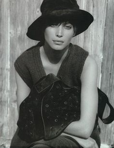 ☆ Christy Turlington | Photography by Peter Lindbergh | For Prada Campaign…