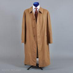 1950s - 60s Burberrys' Balmacaan Coat Raincoat - 44