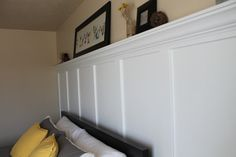 I am so excited to show you my new and improved Master bedroom! This took my handsome husband and I one day to install and another 3 for me to do the finishing (caulking, and painting.) First, pull off the existing floor board. This could be skipped, but we wanted the floor board to [...]