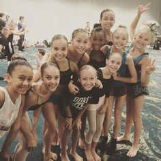 Jaycee, emma, Jojo,Brynn, and tate with some dancers at dancerpalooza.  Pinned by ♡DM Fandom♡