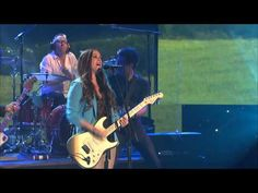 """MDA Muscle Team member Max Adler and former MDA National Goodwill Ambassador Abbey Umali introduced Grammy winning singer/songwriter Alanis Morissette on MDA SHOW of STRENGTH. Alanis performed her new single, """"Guardian"""" from her brand-new album, """"Havoc and Bright Lights"""