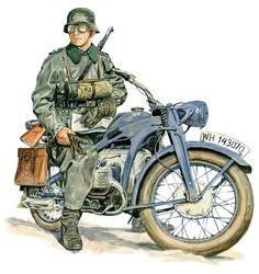 Motocyklista z Wehrmahtu