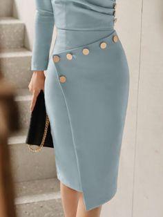 Chaussures femme taille froncée Split Front Jersey Maxi Jupe Tout simplement être