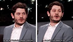 """""""Lord Bolton to you."""" Iwan Rheon interacts with the public. Game of Thrones. Winter Is Here, Winter Is Coming, Movies Showing, Movies And Tv Shows, Iwan Rheon, Game Of Thrones Funny, Got Memes, Mother Of Dragons, Valar Morghulis"""