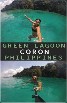 Green Lagoon Coron, is located minutes far from the port of Coron Island, north Palawan. How to get to the Green Lagoon Coron Philippines Palawan, Philippine Holidays, Coron, Beaches In The World, Beautiful Islands, Green, Pictures, Bucket, Photos