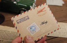 Vintage brown Air Mail Envelopes. Gift card holder brown envelope | Todo Papel | Color Lace Paper Doilies & Pretty Stationery