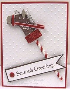 stocking punch DIY card Horse Christmas