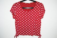 Vintage 60s Red Dotted Top/ Polka Dots