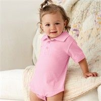 Rabbit Skins Infant Polo Creeper - $9.94