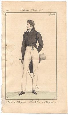 Restrained and classic outfit. Costume parisien, 1816