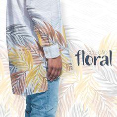 Estampa Floral desenvolvida para a moda masculina.  Disponível em nosso acervo.  Para solicitar essa e/ou outras estampas entre em contato pelo e-mail: contato@estudiolabart.com.br