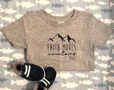 05e1070c3 Faith moves mountains bro toddler tshirt, christian tees for kids, hipster  christian tshirt Faith