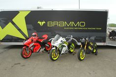 Team ICON Brammo unloaded and ready for a track test day at Thunderhill.