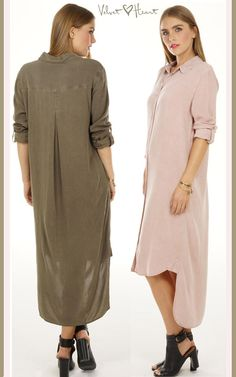 When you want a shirtdress that will take you anywhere, anyseason ... here it is... from Velvet Heart. In renewable, washable, soft Tencel.