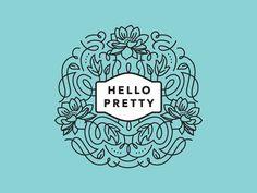Hello Pretty Logo Mockup by Amy Hood for Hoodzpah