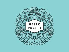 Hello Pretty Logo Mockup by Amy Hood of Hoodzpah #hoodzpah #logo #design #branding