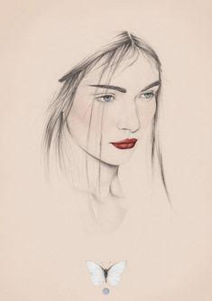 // Digital portrait drawing