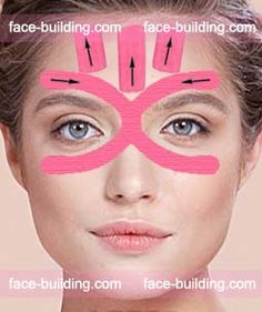 Scheme of complex taping of the upper tr … Beauty Skin, Health And Beauty, Diy Hair Detangler, Face Lift Tape, Face Care, Skin Care, Facial Anatomy, Facial Yoga, Face Exercises