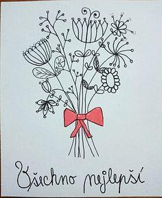 kreslené přání k narozeninám Tvoření | B.J.   PŘÁNÍ K NAROZENINÁM | Pinterest kreslené přání k narozeninám