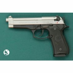 Beretta Model 96 Handgun with the Silver on top and black on the bottom