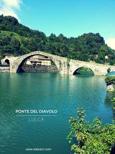 Ponte del diavolo, the Devil's Bridge. Lucca