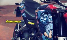 Yakuza tattoo vinyl wrap motorcycle