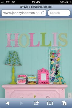 Inspiration for my daughters room