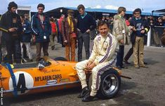Bruce McLaren's first papaya orange F1 car was the 1967 M7A. The car delivered the team's first ever Formula 1 victories when Bruce won at Spa, and Denny Hulme took the flag at Italy and Canada in 1967.  McLaren have gone back to the '60s for the 2018 season with their new MCL33 papaya orange F1 car. #F1 #Formula1 #McLarenF1 #BruceMcLaren #McLarenM7A #MCL33
