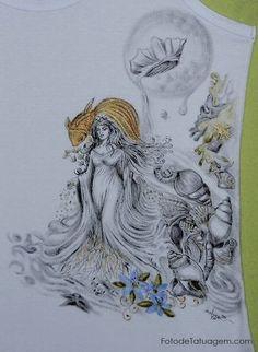 Desenhos Para Tatuagem De Iemanja | Foto de Tatuagem