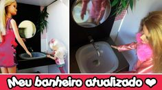 Como fazer torneira e pia de banheiro para bonecas Barbie e Monster High