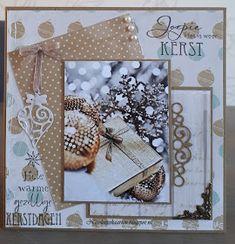 Nicolette's kaarten: Kerstkaart week 1 Beautiful Handmade Cards, Diy Cards, Christmas Cards, Frame, Colors, Decor, Noel, Card Crafts, Christmas E Cards