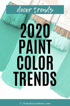 Find out the latest scoop on the 2020 paint color trends, palettes and colors of the year for all of the major paint companies. | Painting Tips Office Paint Colors, Room Paint Colors, Paint Colors For Living Room, Paint Colors For Home, Trending Paint Colors, Popular Paint Colors, Paint For Kitchen Walls, Kitchen Paint Colors, Interior Decorating Tips