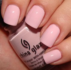 """Simple yet girly light pink and very similar to Essie's """"Fiji."""" But this color is by China Glaze In the shade """"Something Sweet."""""""