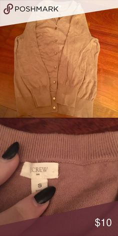 J. Crew Factory brown cardigan size s Lightweight brown cardigan from the J. Crew outlet/factory store size S J. Crew Factory Sweaters Cardigans