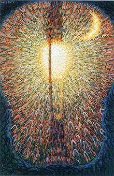 Giacomo Balla. Farola, 1909. Pintor Italiano, escultor, escenógrafo, artista y actor. Fue uno de los originadores del Futurismo y fue particularmente preocupado con la representación de la luz y el movimiento.