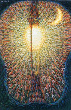 Giacomo Balla, Street Light, 1909. talian painter, sculptor, stage designer, decorative artist and actor. He was one of the originators of Futurism and was particularly concerned with the representation of light and movement.