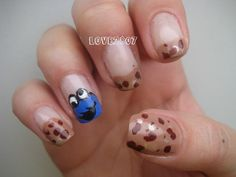 cookie monster nails designs | Nail Art Design: Cookie Monster