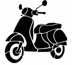 Vespa scooter SVG, PNG, JPG digital file - Cricut & Silhouette vehicle transportation by on Etsy Stencil Patterns, Stencil Art, Scooters Vespa, Lambretta Scooter, B&w Wallpaper, Create Shirts, Desenho Tattoo, Silhouette Portrait, Silhouette Design