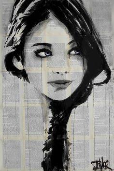"Saatchi Art Artist: Loui Jover; Ink 2015 Drawing ""baby blue"""