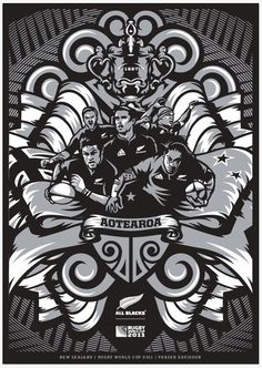 Fraser Davidson / Projects / Rugby World Cup Rugby League, Rugby Players, Logo Design Tutorial, Design Tutorials, Welsh Rugby, All Blacks Rugby, New Zealand Rugby, Kiwiana, Rugby World Cup