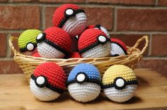 Crocheted Pokeballs! #shutupandtakemyyen #pokemon #pokeball #anime #nintendo #crochet #merch #merchandise #pokeballs #animemerch #animemerchandise #pokemonmerch #pokemonmerchandise #pokemongo #plush #plushies