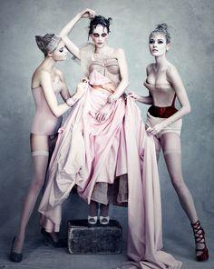 Sasha Pivovarova in Dior Couture